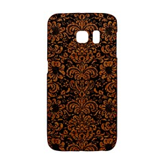 Damask2 Black Marble & Rusted Metal (r) Galaxy S6 Edge