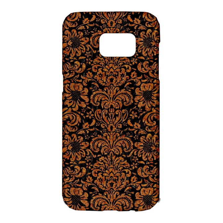 DAMASK2 BLACK MARBLE & RUSTED METAL (R) Samsung Galaxy S7 Edge Hardshell Case