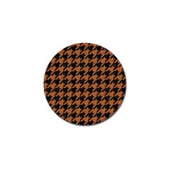 Houndstooth1 Black Marble & Rusted Metal Golf Ball Marker by trendistuff