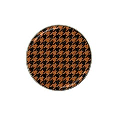 Houndstooth1 Black Marble & Rusted Metal Hat Clip Ball Marker (10 Pack) by trendistuff