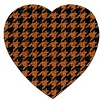 HOUNDSTOOTH1 BLACK MARBLE & RUSTED METAL Jigsaw Puzzle (Heart) Front