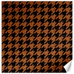 HOUNDSTOOTH1 BLACK MARBLE & RUSTED METAL Canvas 20  x 20   20 x20 Canvas - 1