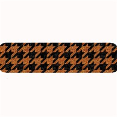Houndstooth1 Black Marble & Rusted Metal Large Bar Mats by trendistuff