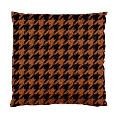 Houndstooth1 Black Marble & Rusted Metal Standard Cushion Case (one Side) by trendistuff