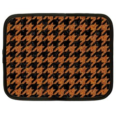 Houndstooth1 Black Marble & Rusted Metal Netbook Case (xxl)  by trendistuff