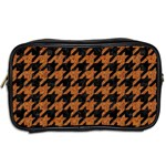 HOUNDSTOOTH1 BLACK MARBLE & RUSTED METAL Toiletries Bags 2-Side Back