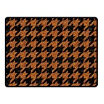 HOUNDSTOOTH1 BLACK MARBLE & RUSTED METAL Fleece Blanket (Small) 50 x40 Blanket Front