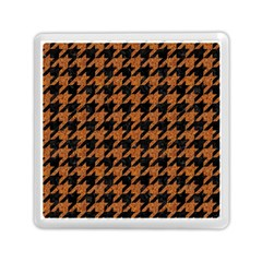 Houndstooth1 Black Marble & Rusted Metal Memory Card Reader (square)  by trendistuff