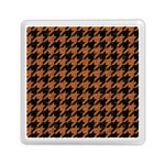 HOUNDSTOOTH1 BLACK MARBLE & RUSTED METAL Memory Card Reader (Square)  Front