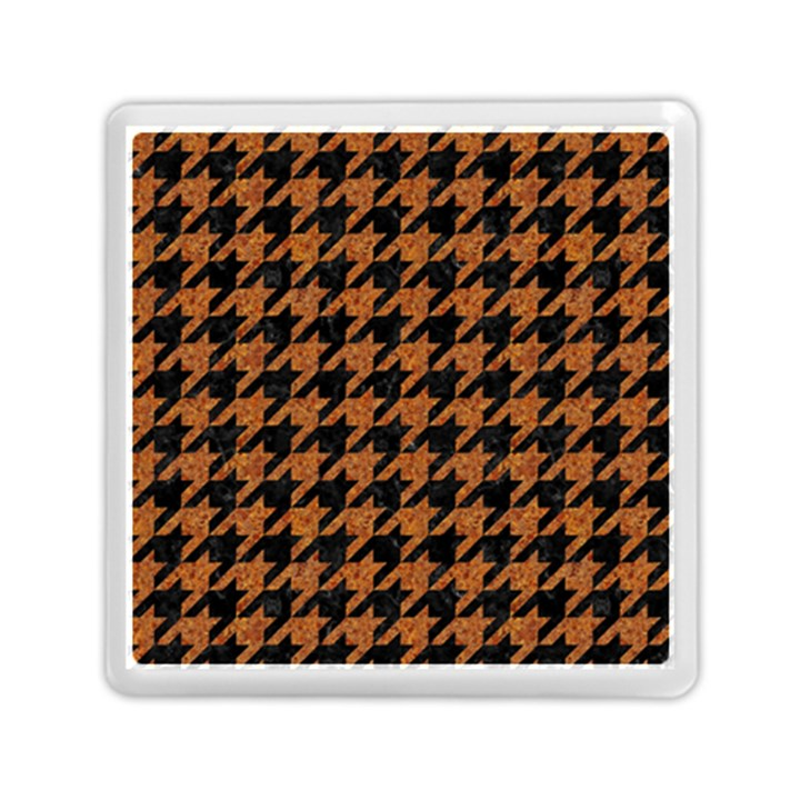 HOUNDSTOOTH1 BLACK MARBLE & RUSTED METAL Memory Card Reader (Square)