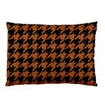 HOUNDSTOOTH1 BLACK MARBLE & RUSTED METAL Pillow Case (Two Sides) Back