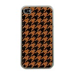HOUNDSTOOTH1 BLACK MARBLE & RUSTED METAL Apple iPhone 4 Case (Clear) Front