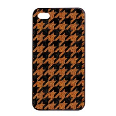 Houndstooth1 Black Marble & Rusted Metal Apple Iphone 4/4s Seamless Case (black) by trendistuff