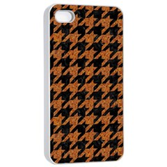 Houndstooth1 Black Marble & Rusted Metal Apple Iphone 4/4s Seamless Case (white) by trendistuff