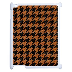 Houndstooth1 Black Marble & Rusted Metal Apple Ipad 2 Case (white) by trendistuff