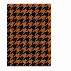 Houndstooth1 Black Marble & Rusted Metal Large Garden Flag (two Sides) by trendistuff