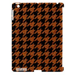 Houndstooth1 Black Marble & Rusted Metal Apple Ipad 3/4 Hardshell Case (compatible With Smart Cover) by trendistuff