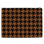 HOUNDSTOOTH1 BLACK MARBLE & RUSTED METAL Cosmetic Bag (XXL)  Back