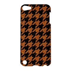 Houndstooth1 Black Marble & Rusted Metal Apple Ipod Touch 5 Hardshell Case by trendistuff
