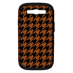 Houndstooth1 Black Marble & Rusted Metal Samsung Galaxy S Iii Hardshell Case (pc+silicone) by trendistuff