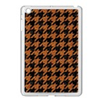HOUNDSTOOTH1 BLACK MARBLE & RUSTED METAL Apple iPad Mini Case (White) Front