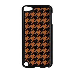 Houndstooth1 Black Marble & Rusted Metal Apple Ipod Touch 5 Case (black) by trendistuff