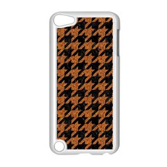 Houndstooth1 Black Marble & Rusted Metal Apple Ipod Touch 5 Case (white) by trendistuff