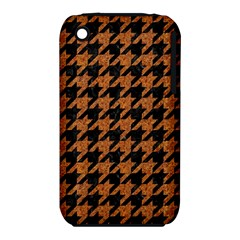 Houndstooth1 Black Marble & Rusted Metal Iphone 3s/3gs by trendistuff