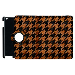 Houndstooth1 Black Marble & Rusted Metal Apple Ipad 2 Flip 360 Case by trendistuff