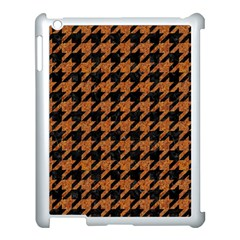 Houndstooth1 Black Marble & Rusted Metal Apple Ipad 3/4 Case (white) by trendistuff