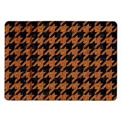 Houndstooth1 Black Marble & Rusted Metal Samsung Galaxy Tab 10 1  P7500 Flip Case