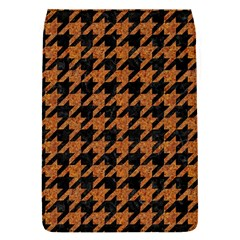 Houndstooth1 Black Marble & Rusted Metal Flap Covers (s)  by trendistuff