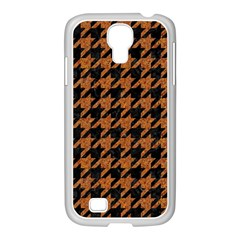 Houndstooth1 Black Marble & Rusted Metal Samsung Galaxy S4 I9500/ I9505 Case (white) by trendistuff