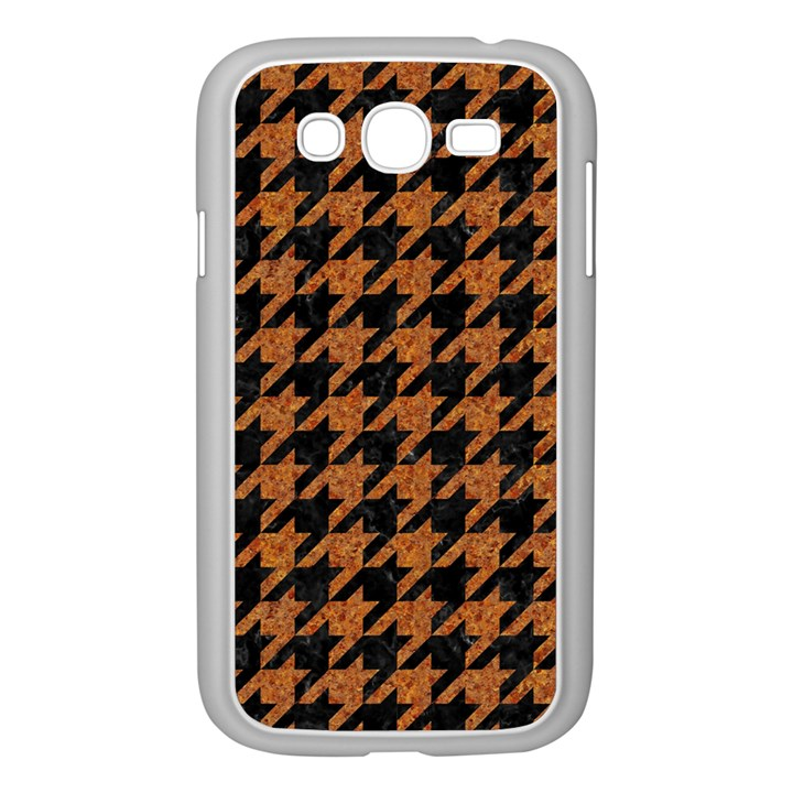 HOUNDSTOOTH1 BLACK MARBLE & RUSTED METAL Samsung Galaxy Grand DUOS I9082 Case (White)