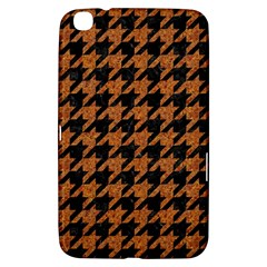 Houndstooth1 Black Marble & Rusted Metal Samsung Galaxy Tab 3 (8 ) T3100 Hardshell Case  by trendistuff