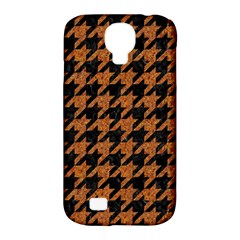 Houndstooth1 Black Marble & Rusted Metal Samsung Galaxy S4 Classic Hardshell Case (pc+silicone) by trendistuff