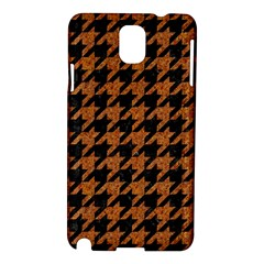 Houndstooth1 Black Marble & Rusted Metal Samsung Galaxy Note 3 N9005 Hardshell Case by trendistuff