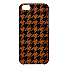 Houndstooth1 Black Marble & Rusted Metal Apple Iphone 5c Hardshell Case by trendistuff