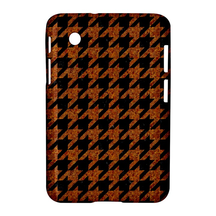 HOUNDSTOOTH1 BLACK MARBLE & RUSTED METAL Samsung Galaxy Tab 2 (7 ) P3100 Hardshell Case