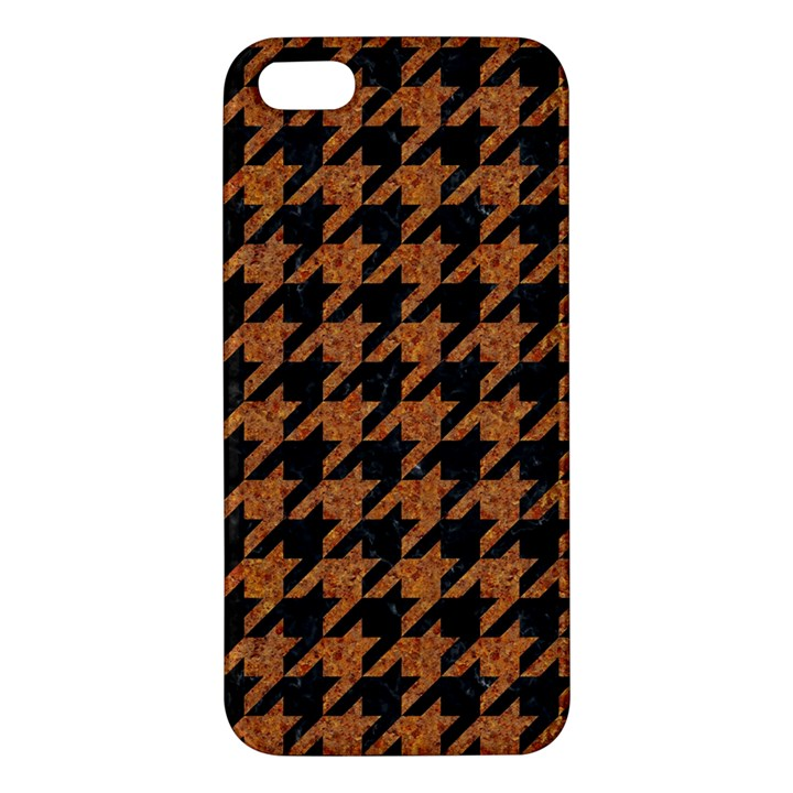 HOUNDSTOOTH1 BLACK MARBLE & RUSTED METAL iPhone 5S/ SE Premium Hardshell Case