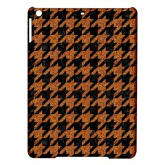 Houndstooth1 Black Marble & Rusted Metal Ipad Air Hardshell Cases by trendistuff