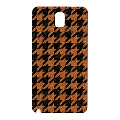 Houndstooth1 Black Marble & Rusted Metal Samsung Galaxy Note 3 N9005 Hardshell Back Case by trendistuff