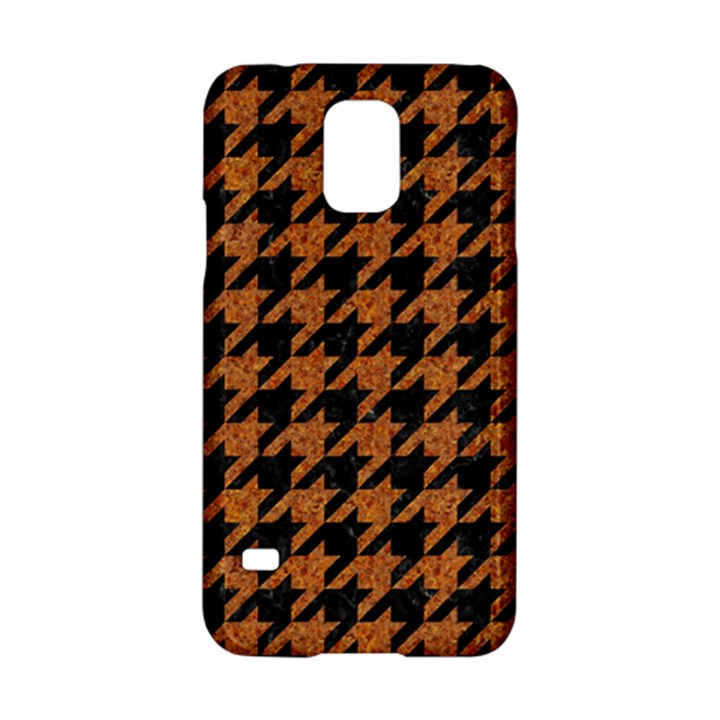 HOUNDSTOOTH1 BLACK MARBLE & RUSTED METAL Samsung Galaxy S5 Hardshell Case