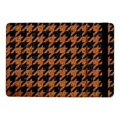 Houndstooth1 Black Marble & Rusted Metal Samsung Galaxy Tab Pro 10 1  Flip Case by trendistuff