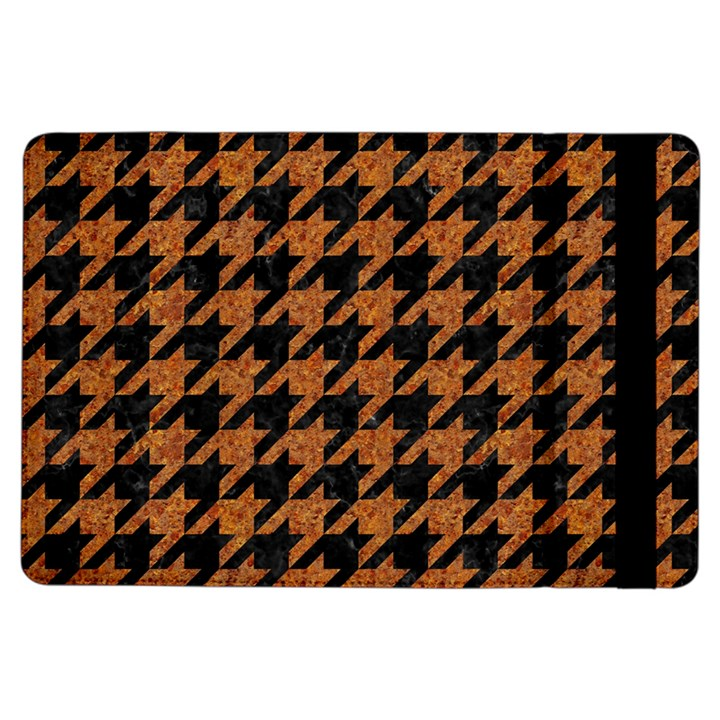 HOUNDSTOOTH1 BLACK MARBLE & RUSTED METAL iPad Air Flip