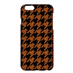 Houndstooth1 Black Marble & Rusted Metal Apple Iphone 6 Plus/6s Plus Hardshell Case by trendistuff