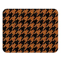 Houndstooth1 Black Marble & Rusted Metal Double Sided Flano Blanket (large)  by trendistuff