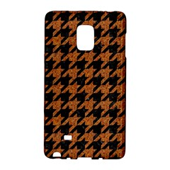 Houndstooth1 Black Marble & Rusted Metal Galaxy Note Edge by trendistuff