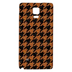 Houndstooth1 Black Marble & Rusted Metal Galaxy Note 4 Back Case by trendistuff