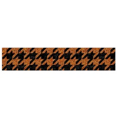 Houndstooth1 Black Marble & Rusted Metal Flano Scarf (small) by trendistuff